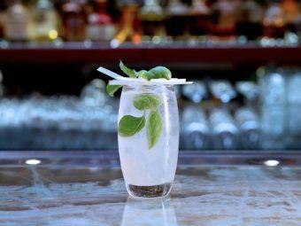Lemon Grass & Basil Collins